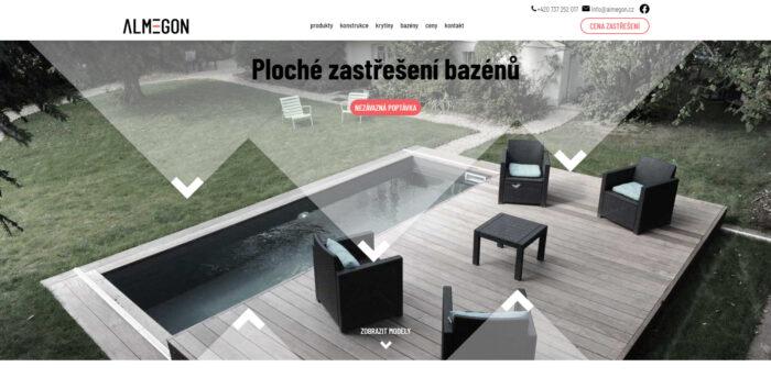 Firemní web včetně online konfigurátoru výrobků